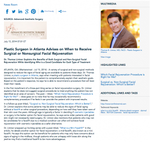plastic surgeon in Atlanta, facelift, cosmetic injectables, Dr. Lintner, eyelid lift