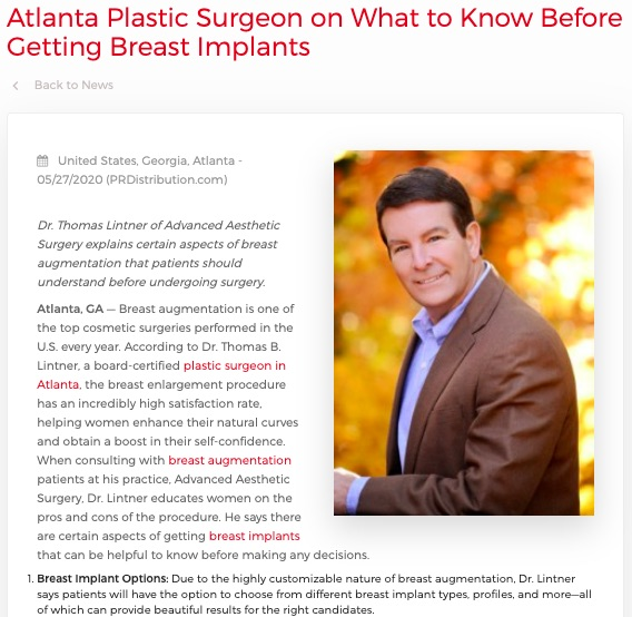 Dr. Lintner details five things to know before getting breast implants.